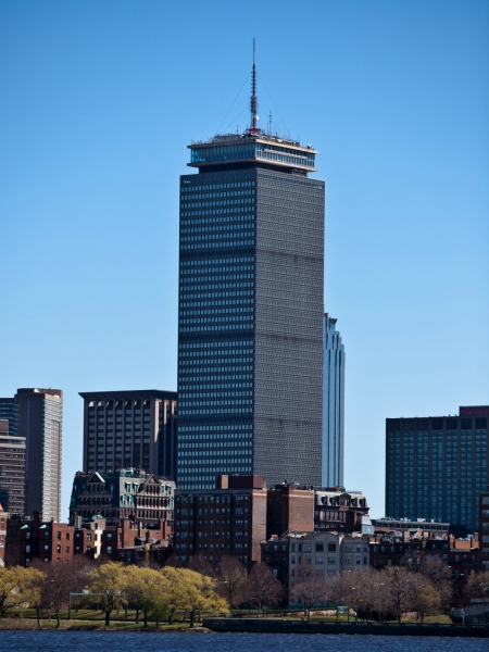 Digital Signage Display and elevator screens in The Prudential Tower - Boston