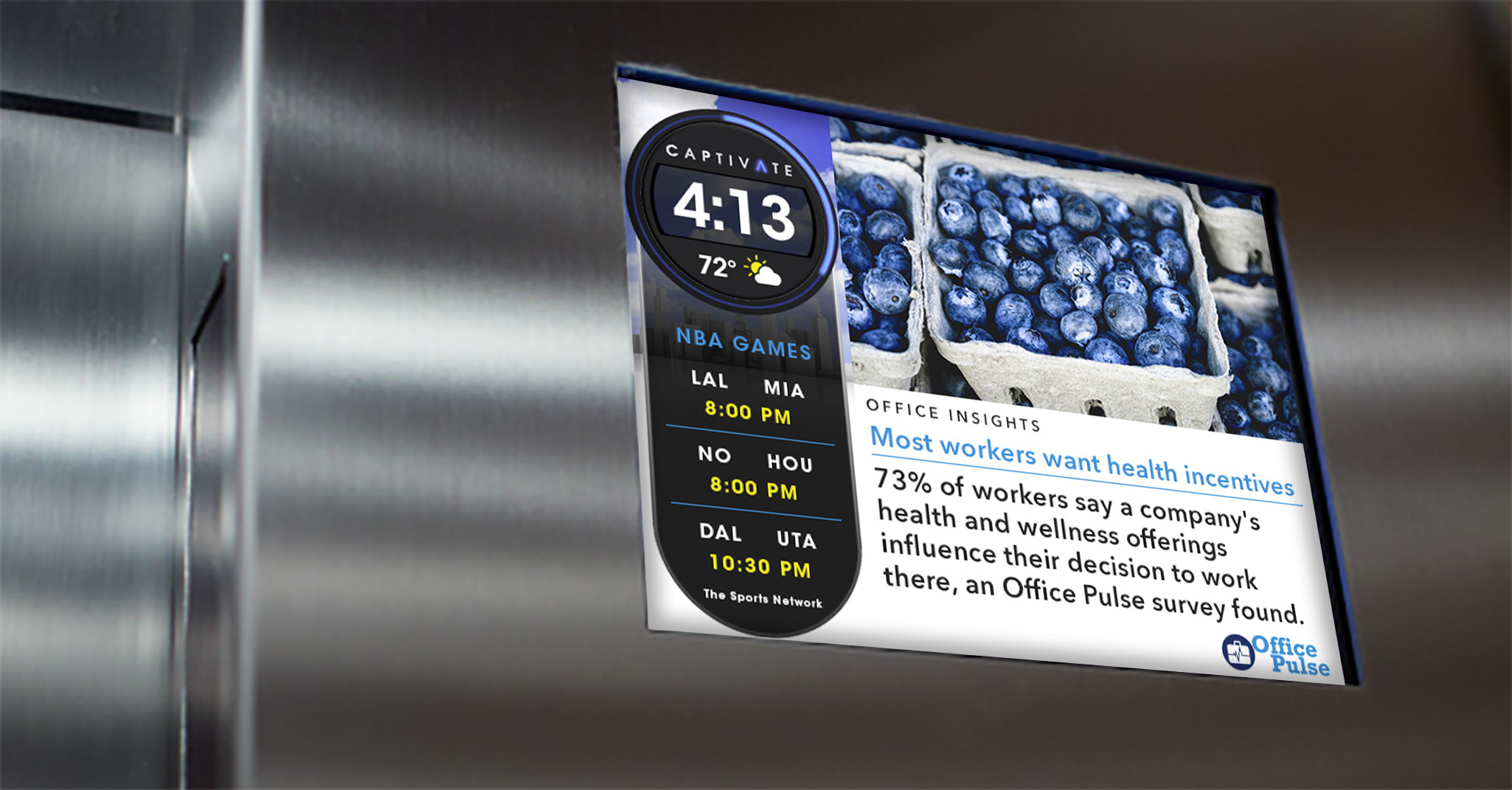 Captivate Elevator Screens - In Office Content and Advertising Solution