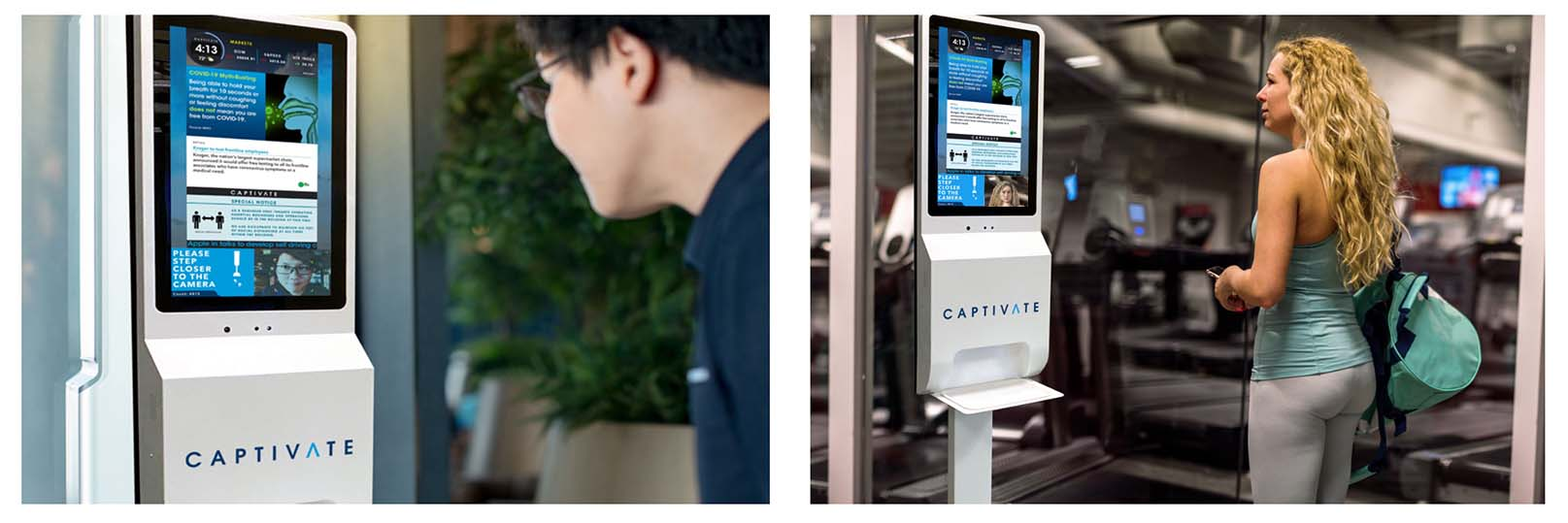 Captivate Residential - Digital Communication and Hand Sanitizer Dispenser