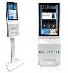 Captivate SCAN Pedestal and wall mount kiosk