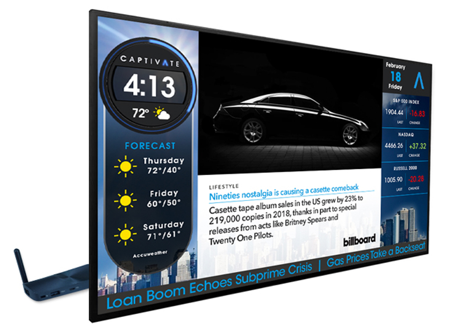 Shop Captivate Large Format Digital Signage Display