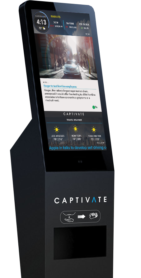 Captivate CLEAN Digital Communication Display