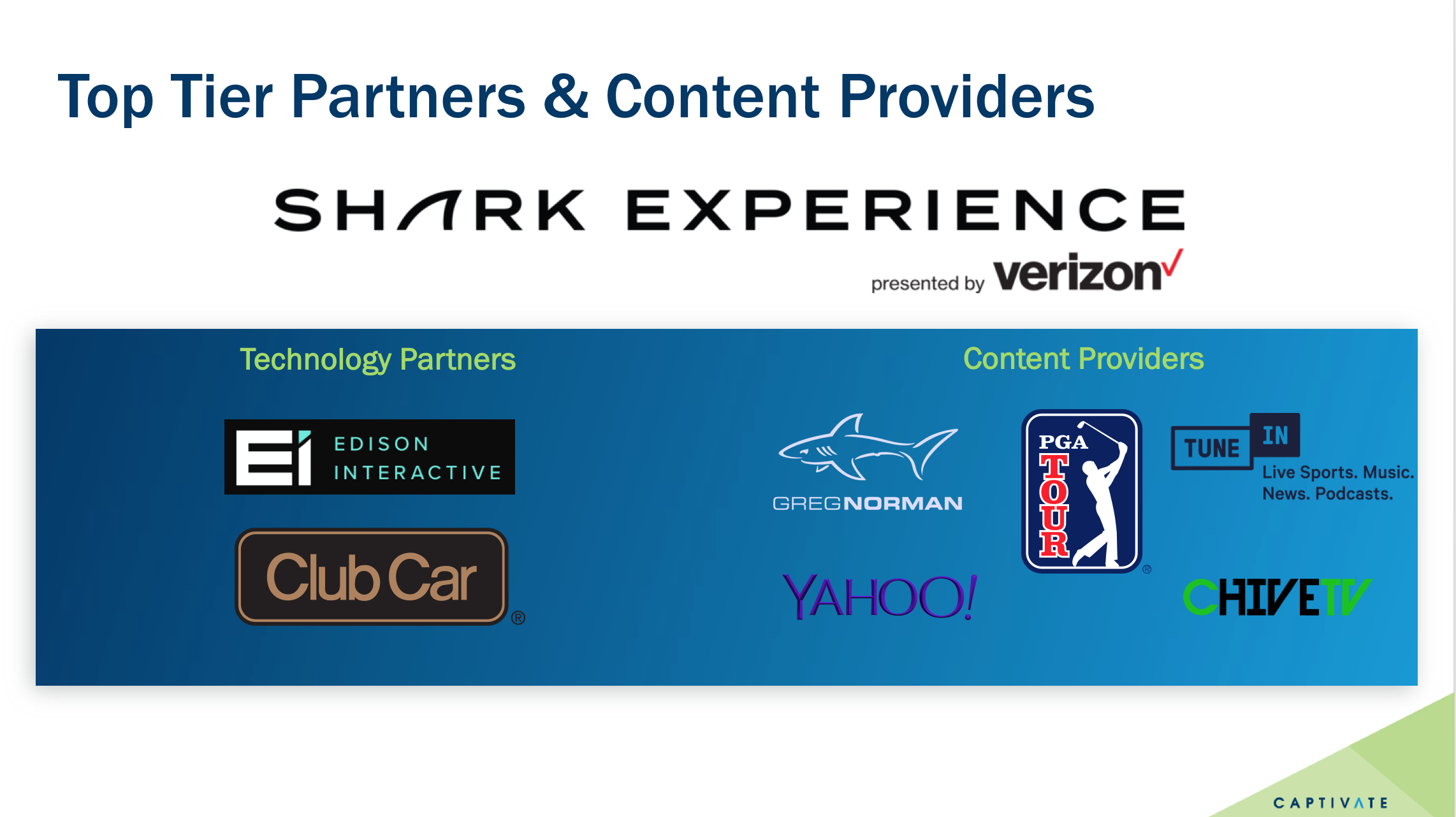 Captivate GOLF - Shark Experience Presented by Version