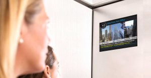 Captivate-View From Your Office - Screen in Elevator