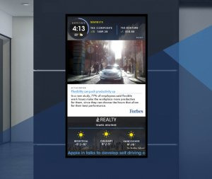 Advertise on Captivate Elevator Screen